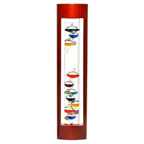 G.W. Schleidt YG625 Galileo Thermometer Cherry Stand 18-Inch Multicolored