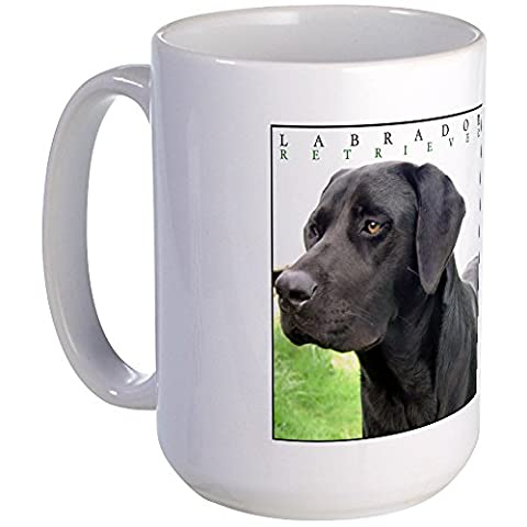 CafePress - Black Lab Classic Large Mug (Labrador) - Coffee Mug, Large 15 oz. White Coffee Cup - Labrador Coffee