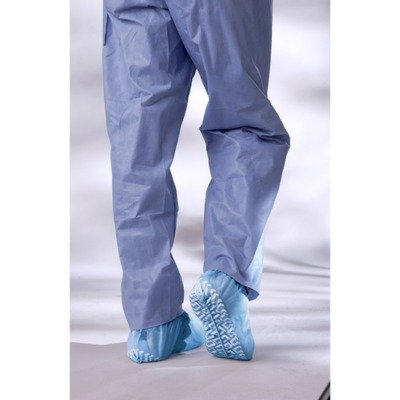 (Medline NON28858 Non-Skid Pro Series Multi-Layer Shoe Covers, Latex Free, Regular/Large, Blue (Pack of)