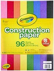 Crayola Construction Paper, School Supplies, 96 ct