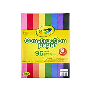 "Crayola Construction Paper 9"" x 12"" Pad, 8 Classic Colors (96 Sheets), Great For Classrooms & School Projects, Assorted"