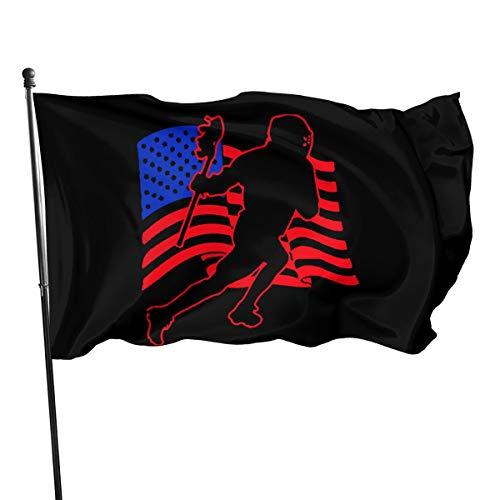 Louisiana Halloween Shooting (A13UDQ-1 Outdoor Flags Lacrosse American Flag 3X5 Ft Flag for Outdoor Indoor Home Decor Sports Fan Football Basketball Baseball)