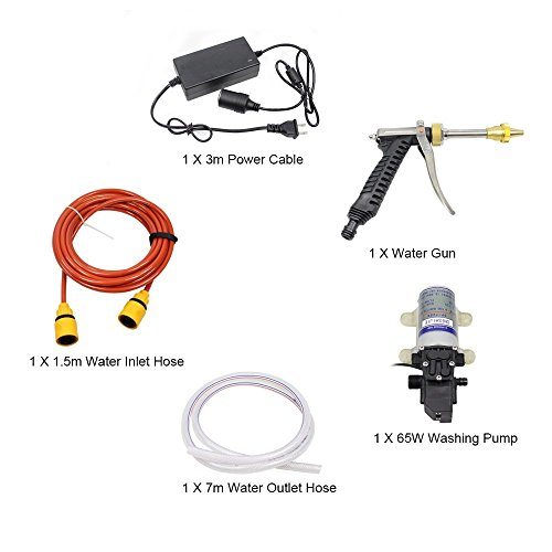 Car Washer,Quora 12V 65W Electric High Pressure Washer Pump Car Washer Device Kit by Quora