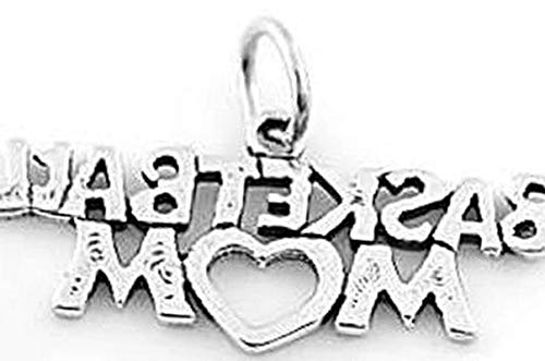 Sterling Silver Basketball MOM Charm/Pendant Vintage Crafting