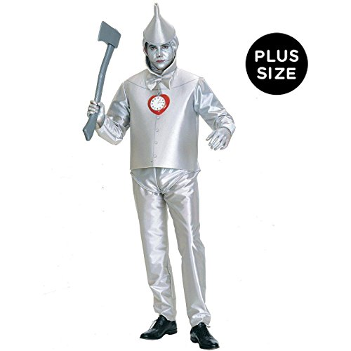Rubie's Costume Co Men's Wizard Of Oz Tin Man Costume, Silver Metallic, (Tin Man Costume For Adults)