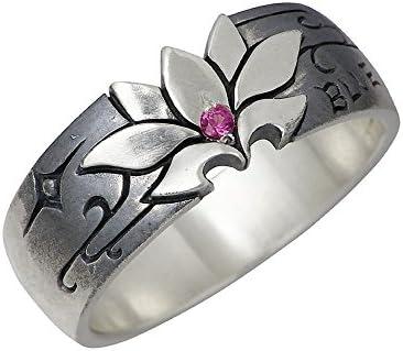 ホウロクドウ 星空の花 シルバー リング 指輪 誕生石 Dsp-018