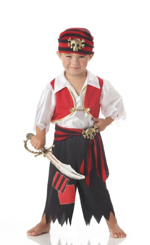[Ahoy Matey Pirate Toddler Costume Toddler (3-4)] (Toddler Boys Pirate Costumes)