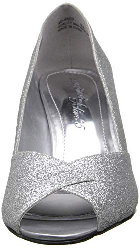 Peep Easy Ravish Street Silver Toe Klassische Frauen Pumps Glitter qSwzOSn7