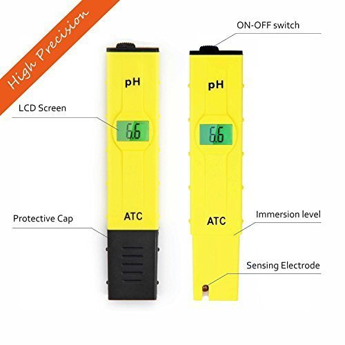 JTD High Accuracy Pocket Size Handheld pH Meter Pen Tester (Yellow) 0-14pH Measurement Range , Auto Temperature Compensation by JTD