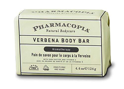 Aromatherapy Verbena - Pharmacopia Verbena Body Bar - Aromatherapy Body Soap with Natural & Organic Ingredients - Vegan Body Wash Bar for Men & Women, 4.4oz