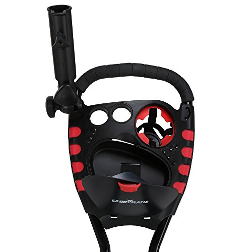 Caddymatic Golf 360° SwivelEase 3 Wheel Folding Golf Cart Black/Red by Caddymatic (Image #3)