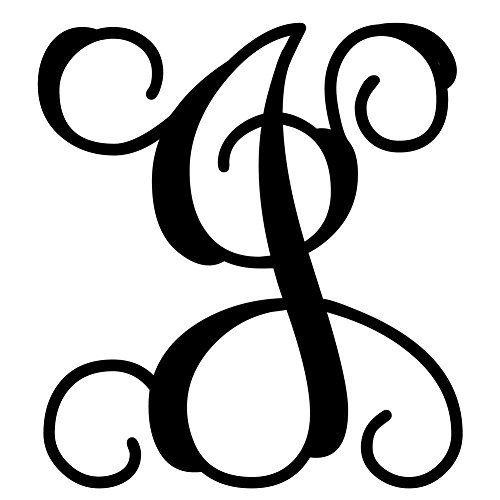 Custom Decor Initial Vine Monogram