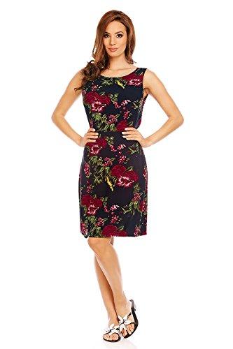 Mia Suri - Vestido - para mujer Black/Burgundy Floral Print