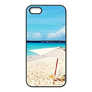 Blue Beach View Black Phone Case for Iphone 5s