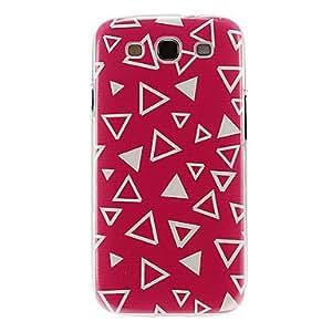 ZCL-Modelo rojo de tierra blanca Triángulo caso de la cubierta protectora dura de plástico para el Samsung Galaxy S3 I9300