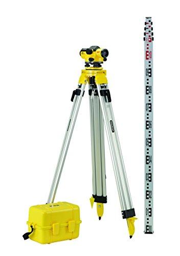 Stanley FatMax Pro AL32 Optisches Nivelliergerät-Set mit Stativ, Teleskop-Nivellierlatte, Transportkoffer, 1-77-244