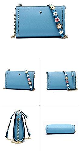 la FONKIC de clásico Hombro Mujeres de Chicas Blue Bolsos de BLUE Bolsos para Lujo Bolsa Hombro de Crossbody de qggfHwIr