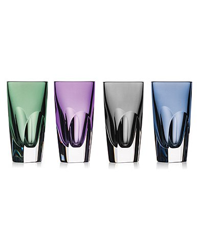 Waterford W Shot Glass Set of 4 Mixed Colors by Waterford