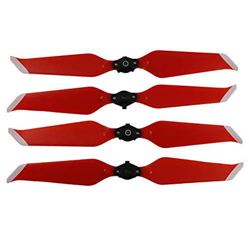 Helistar Propellers for DJI Mavic 2 Pro/Mavic 2 Zoom Accessories Foldable Low-Noise 8743F Props Quick-Release CW CCW Blades 2 Pairs (Red)