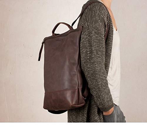 Mochila de cuero marrón portátil, mochila para hombre, mochila grande marrón, mochilas cuero
