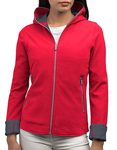Emb Pocket - SCOTTeVEST Chloe Glow - Womens Hoodies - Sweatshirts for Women - Workout Hoodie (EMB XL)