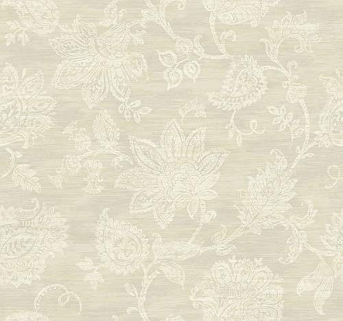 Stamped Jacobean Wallpaper in Fawn AR31708 from Wallquest's
