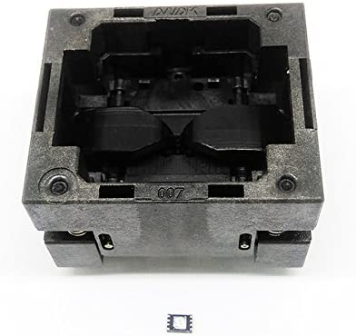 QFN8 MLF8 Burn in Socket Open Top Pogo Pin IC Test Socket Pitch 0.5mm Chip Size 2x3 Flash Adapter Programming Socket