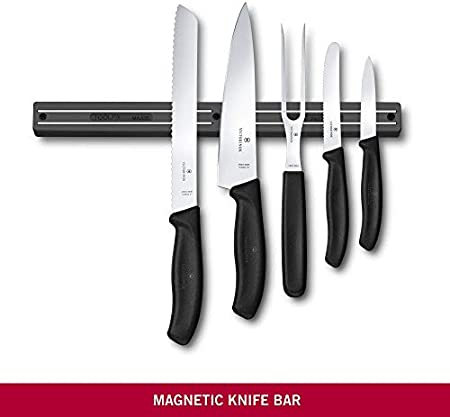 Victorinox Barra Magnética, Acero Inoxidable, Negro, Mediano