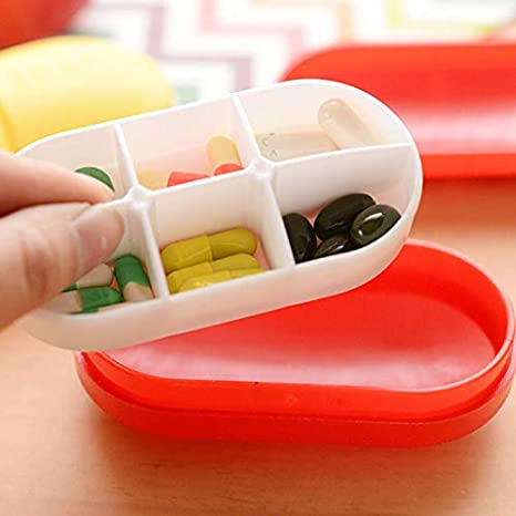 colore verde contenitori profondi YOUQING Portapillole da viaggio con scompartimento per medicinali