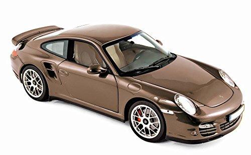 Norev 187622 2010 Porsche 911 Turbo Brown Metallic 1/18 Diecast Model Car