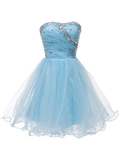 Grace Karin® Short Strapless Voile Party Dress With Beads CL4503
