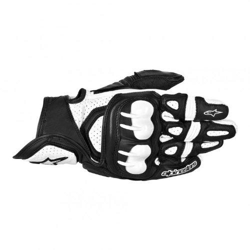 Alpinestars GPX Men's Leather Street Bike Motorcycle Gloves - Black/White / Large