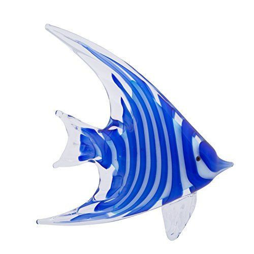 - Beachcombers SS-BCS-04774 Angel Fish Glass Art, Blue