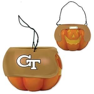 """NCAA 6.5"""" Halloween Pumpkin Bucket NCAA Team: Georgia Tech"""