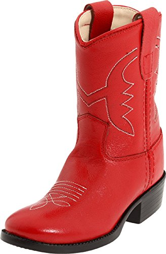 Old West Toddler-Girls' Cowboy Boot Red 4 D(M) US