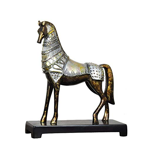 DAJIADS Home Decoration, Animal Style, Retro Horse, Art Deco Sculpture, Figurines Statue Statues Statuette Sculptures, for Living Room Bookcase Decoration Creative Desktop Furnishings,01
