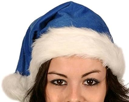 Santa Hat Plush Fine Blue 45cm Long Christmas Festive Fancy Dress Accessory   Amazon.co.uk  Clothing c853ec0e5801