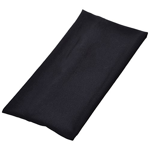 COSMOS Extra Wide 5 Inches Soft Stretchy Yoga Fashion Headband, Black Color