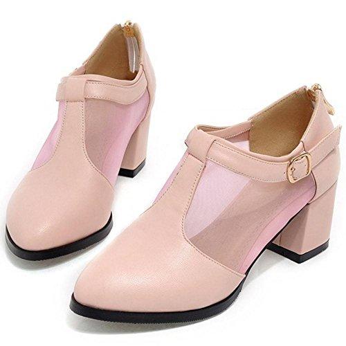 Heels Pink Block Damen TAOFFEN Pumps 6312 wgpFqv