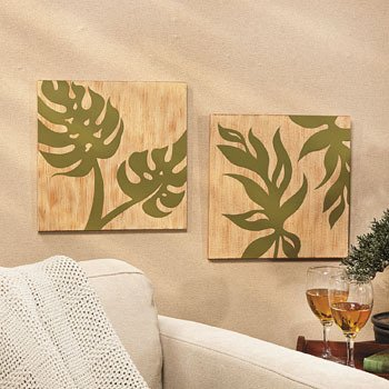 Palm Leaf Wall Prints - Wall Art and Decorations: Amazon.co.uk ...