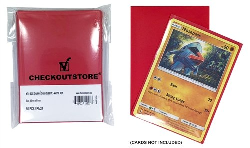 CheckOutStore 10,000 Matte Red Protective Sleeves for Trading Cards (66 x 91 mm)