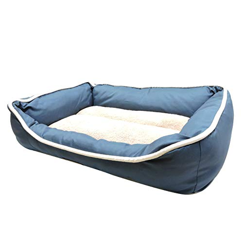 bluee YANQ Kennel pet Litter Four Seasons Universal Removable And Washable Small Medium Large Dog Bed Kennel Dog House Pet Bed (color   bluee)