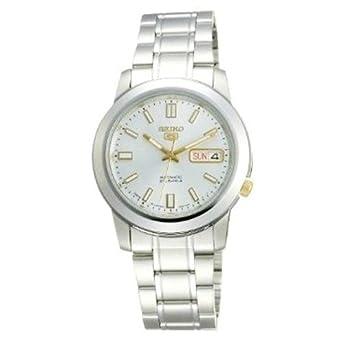 Reloj Seiko 5 Gent SNKK09K1 - Analógico Automático para Hombre en Acero inoxidable: Amazon.es: Relojes