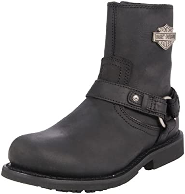 c37b0198cfc Harley-Davidson Scout Black 7-Inch Leather Boots, Side Entry Inside ...