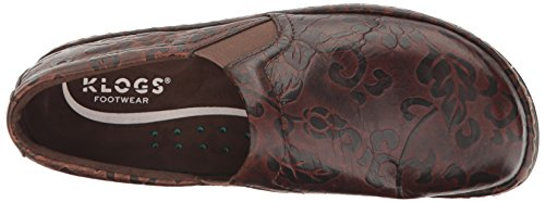 Brown Tooled Brown Klogs Klogs Tooled Flower Flower Klogs Brown Flower zxx0Zq