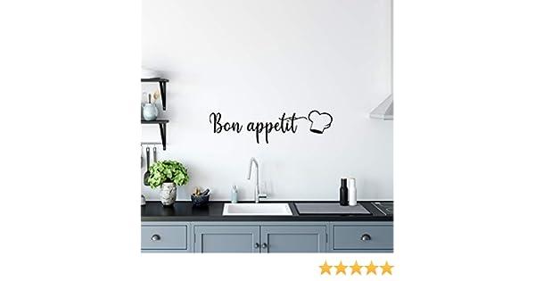 Bon Appetit V090 - Adhesivo decorativo para pared, diseño de cita inspiradora: Amazon.es: Bricolaje y herramientas