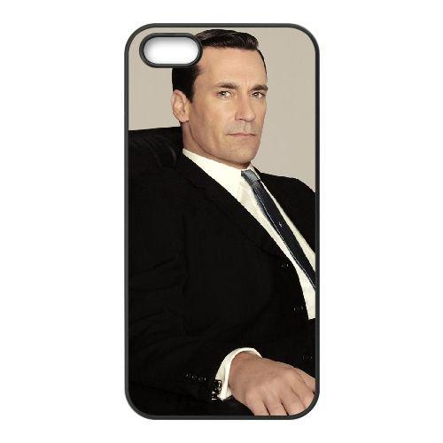 Jon Hamm coque iPhone 5 5S cellulaire cas coque de téléphone cas téléphone cellulaire noir couvercle EOKXLLNCD24910