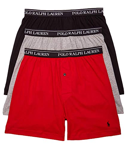 Polo Ralph Lauren Classic Fit Cotton Boxers 3-Pack, S, Black/Red/Grey