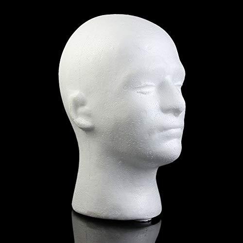 (Wrisky Male Styrofoam Foam Mannequin Manikin Head Model Wig Glasses Hat Display)