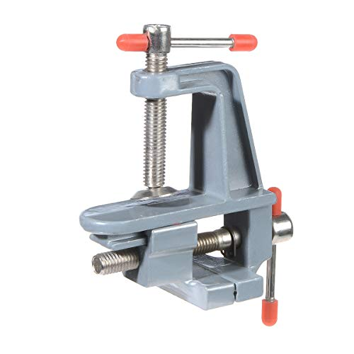 YXQ Small Table Bench Vice Vise Swivel Lock Aluminum Clamp DIY Jewelry Craft Hobby Adjustable Repair Tool